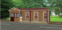防腐木厕所\炭化木环保公厕\实木装饰公共卫生间\仿古厕所