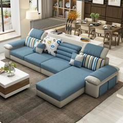 布艺沙发单人双人三人小户型组合客厅沙发简欧现代简约日式创意多功能小沙发