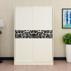 简约时尚衣柜推拉滑移门衣柜2门3门实木质经济型
