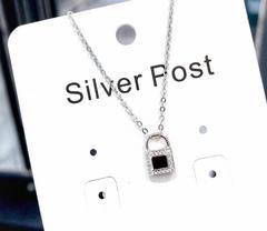 心锁925银项链