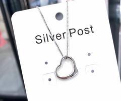 心型925银项链