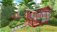 木屋 小木屋 移动木屋 木屋别墅 木结构房屋 木屋酒店