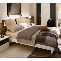 现代简约双人床1.5米1.8板式主卧室组合家具硬板储物高箱