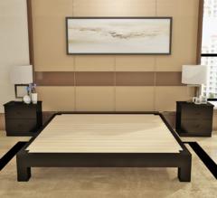 简约现代实木床 卧室家具简易木质榻榻米 单人双人松木床