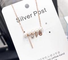 Love珍珠吊坠项链