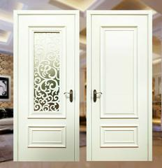 美式套装门纯白色烤漆门贴板复合实木门室内房门卫生间门