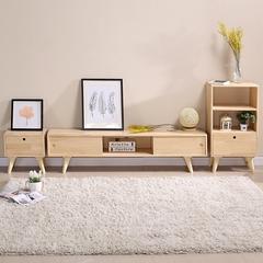电视柜简约茶几组合日式现代卧室北欧实木小户型电视机柜地柜