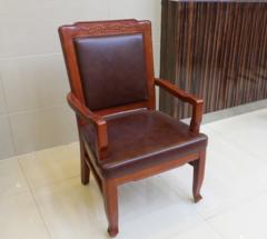 实木会议椅皮艺木质办公椅